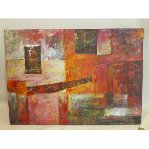 58 - 20th century school, a large abstract study, oil on canvas, unsigned, 87 x 123cm...
