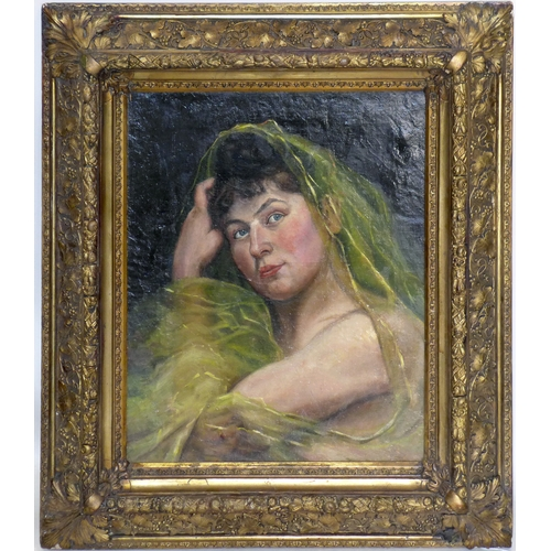 62 - A late 19th/early 20th century Continental portrait, oil on canvas, in gilt wood frame, 45 x 36cm...