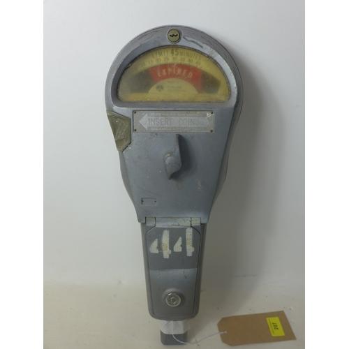 207 - A vintage American parking meter by Rockwell international...