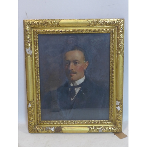 66 - Early 20th century school, Portrait of a Gentleman, oil on canvas, in glazed giltwood frame, 56 x 45...