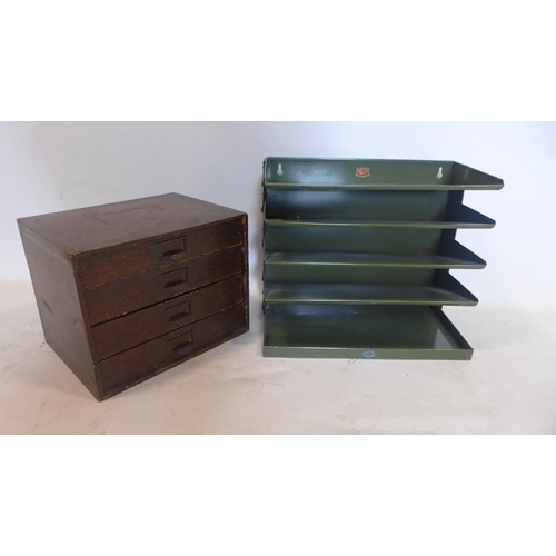 369 - A Winel stationary cabinet, with three drawers, H.25 W.32 D.25cm, together with Veteran Series filin...