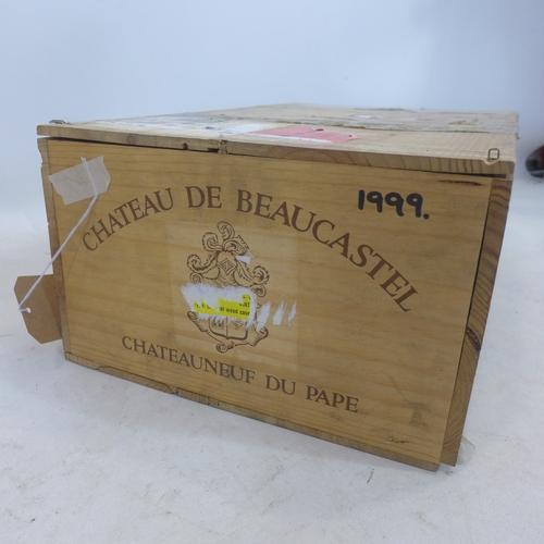 21 - Château de Beaucastel Châteauneuf-du-Pape Rouge 1999, Rhone, 12  bottles...