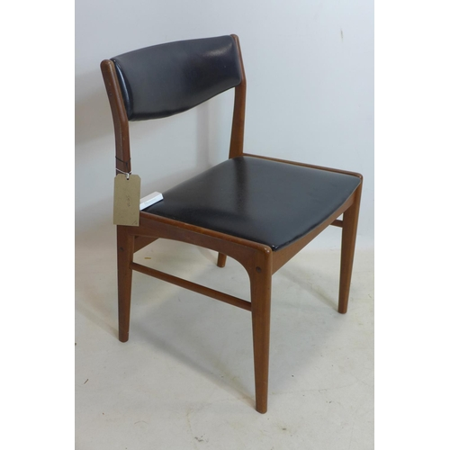 86 - A set of 6 20th century Danish teak dining chairs, each stamped 'Talf Thorso', together with a teak ...