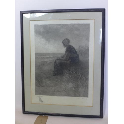 105 - Jozef Israels (1824-1911), 'Carel L. Dabeag', etching, printed by Roeloffzen & Hubner, Amsterdam, an...