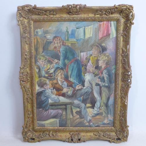 117 - Frank Jennens (1893-1957), Illustration of a scene from Oliver Twist depicting Fagin making breakfas...