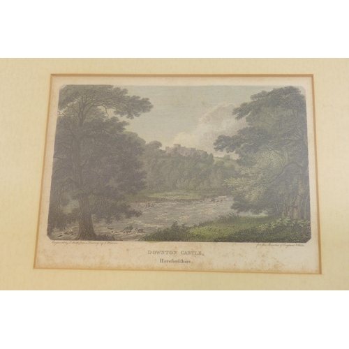 118 - A collection of 7 prints and pictures, to include an oil on board of a boy fishing in a river, a col...