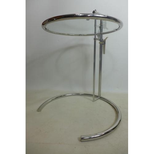 151 - An Eileen Gray style chrome table...