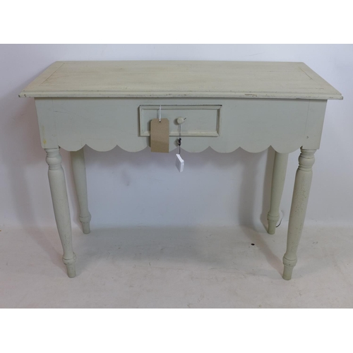 157 - A 20th century painted side table, H.78 W.100 D.45cm...