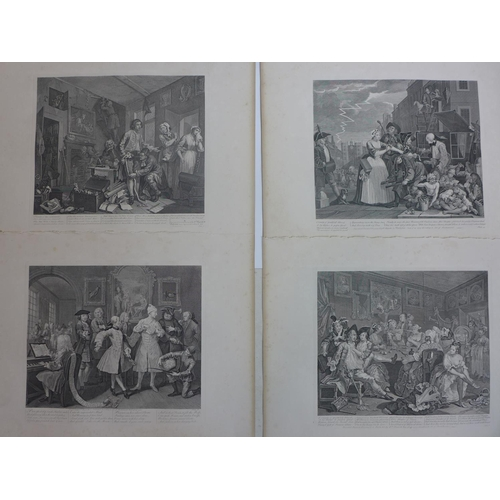 173 - William Hogarth (British, 1697-1764), 'A Rake's Progress', a set of eight plates from 'The Works of ...
