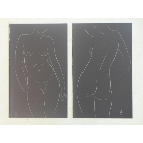 174 - Eric Gill (British, 1882-1940), Two Pairs of Female Nudes, from '25 Nudes', published in 1938 by JM ...