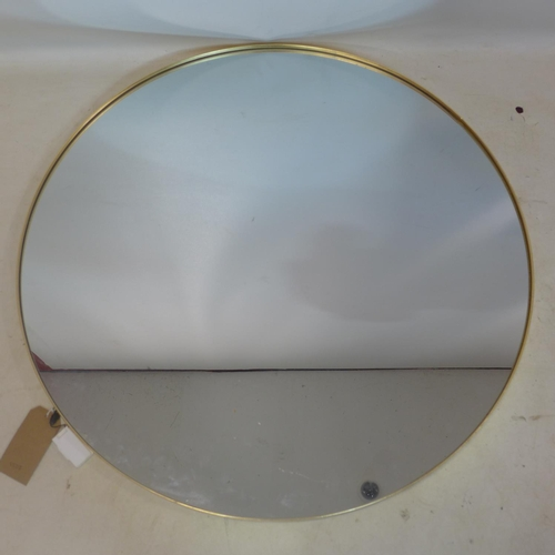 236 - A contemporary gilt circular mirror, Diameter 90cm...