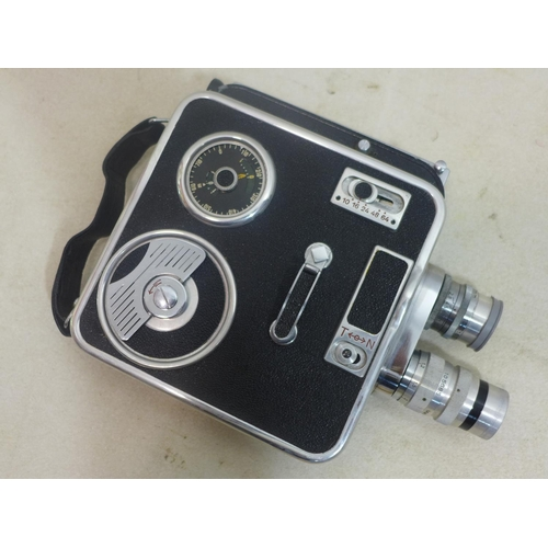 301 - 1950's Vintage Meopta A811 Double 8 Cine Camera, with booklet and lens caps...