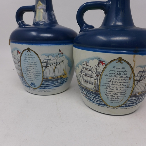 331 - A flagon of Lamb's Navy Rum celebrating the marriage of Prince Andrew and Sarah Ferguson, 75cl, toge...