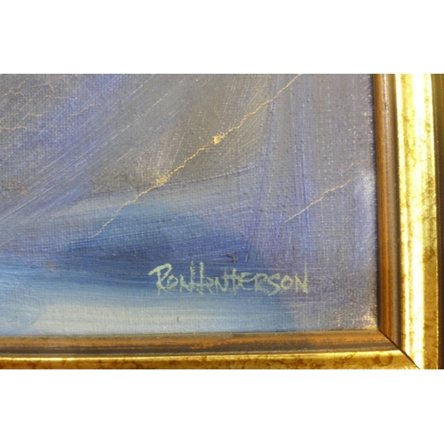 373 - Ron Henderson, A large framed 1960's Surrealist painting entitled 'Desolation Row', dated 1967, sign...