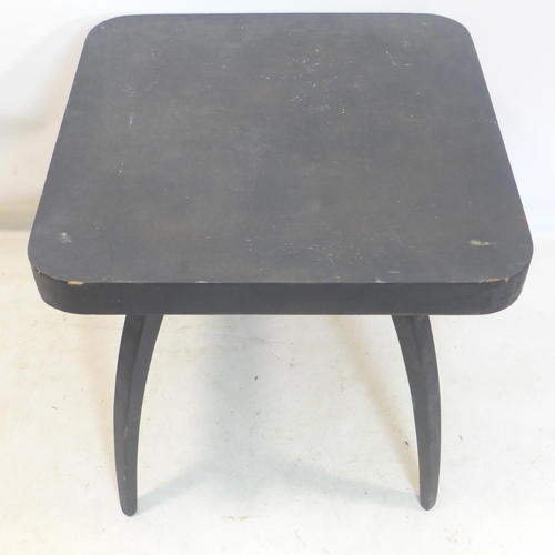 522 - A 1930's ebonised spider table by J.Halabala, H.64 W.65 D.65cm