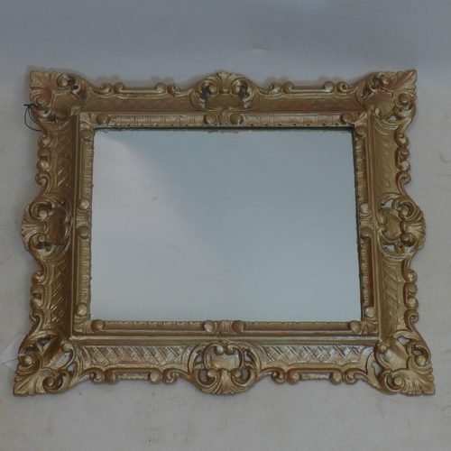 600 - An 18th century style gilt mirror, 45 x 38cm...