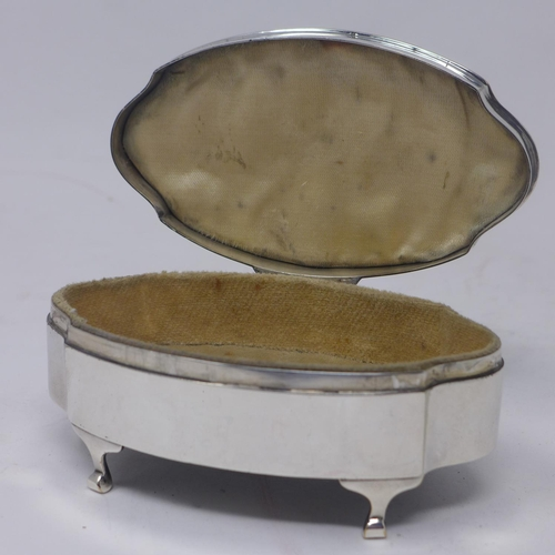 651 - An early 20th century silver and tortoisehell casket, with Royal Flying Corps insignia to tortoisesh...