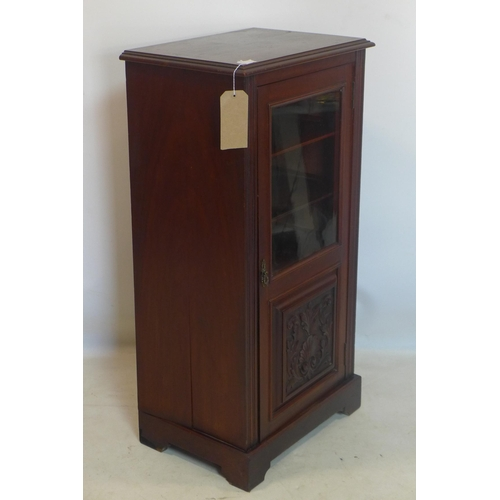 730 - WITHDRAWN - A Victorian mahogany music cabinet, H.102 W.51 D.37cm...