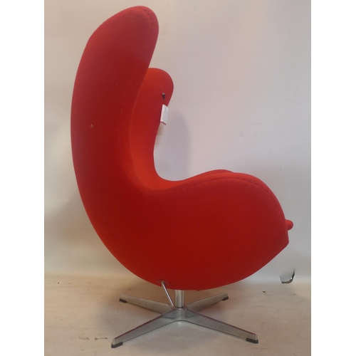 539 - An Arne Jacobsen style egg chair...