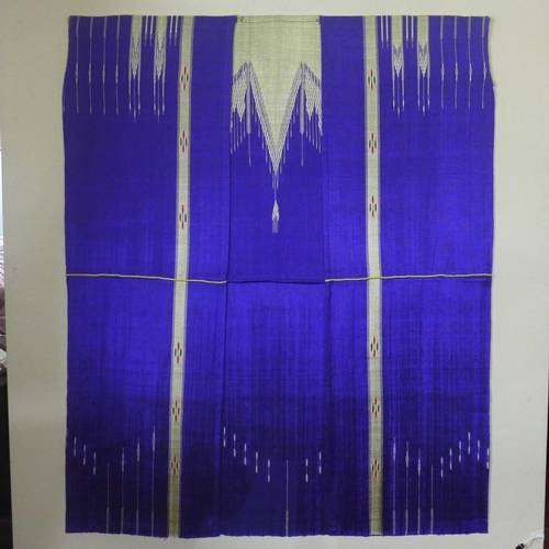 503 - Two silk robes mounted to canvas...