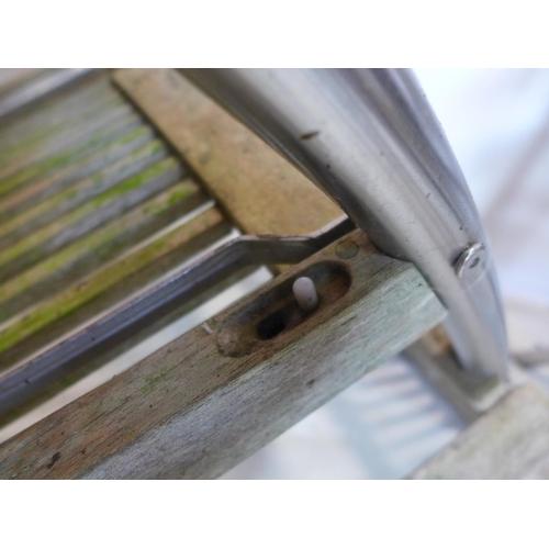 525 - A set of four John Lewis folding garden chairs...