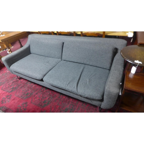 528 - A two seat sofa by Content by Conran with chrome supports...