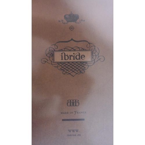 640 - A boxed, unused rectangular metal tray in the 'Ambroise' design by Ibride, France, featuring a bird ...