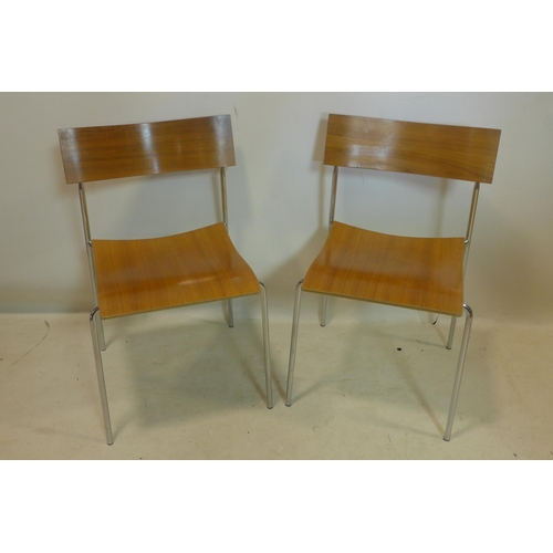 538 - A set of 8 'Campus' chairs by Lammhults of Sweden, with makers labels...