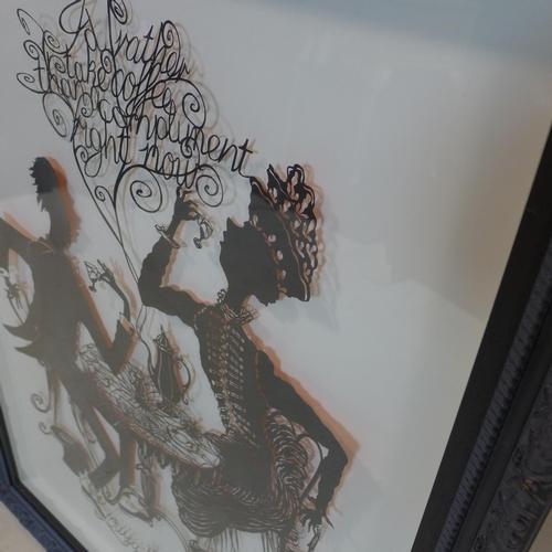 521 - Ian Penney, 'I'd Rather...', paper cut picture, 86 x 63cm...