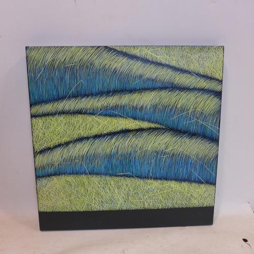 529 - Yvonne Mills-Stanley, 'Grass Memories II', oil on linen, 61 x 61cm...