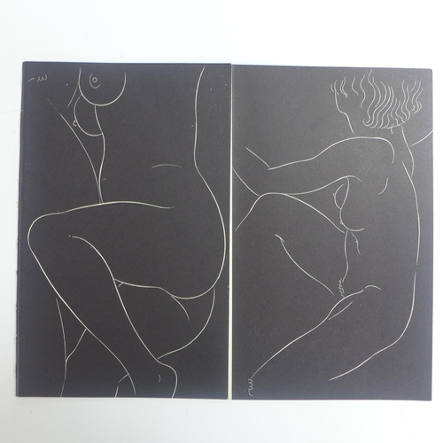 554 - Eric Gill (1882-1940), two pairs of female nudes from '25 Nudes', published in 1938 by JM Dent & Son...