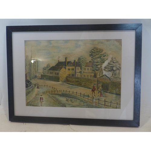 172 - Early 20th century school, View of Sadler's Wells, Islington, watercolour, indistinctly signed and d...