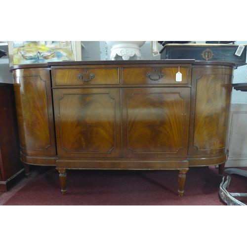 32 - A Regency style mahogany sideboard, H.89 W.68 D.56cm