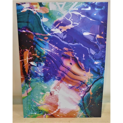 4 - A contemporary abstract print on perspex, published by Bezalel, 70 x 50cm...