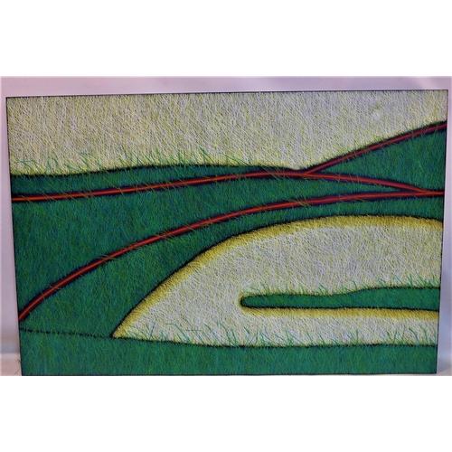 22 - Yvonne Mills-Stanley (Contemporary artist), 'Grass Tracks', oil on linen, 123 x 183cm...
