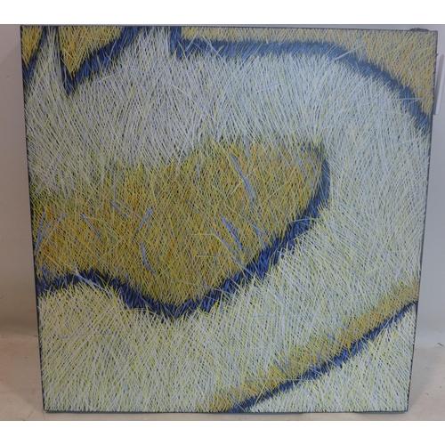 23 - Yvonne Mills-Stanley (Contemporary artist), 'Following Grass I', oil on linen, 61 x 61cm...