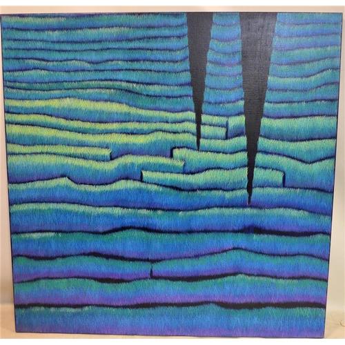 33 - Yvonne Mills-Stanley (Contemporary artist), 'Remembered Landscape VI', oil on linen, 122 x 122cm