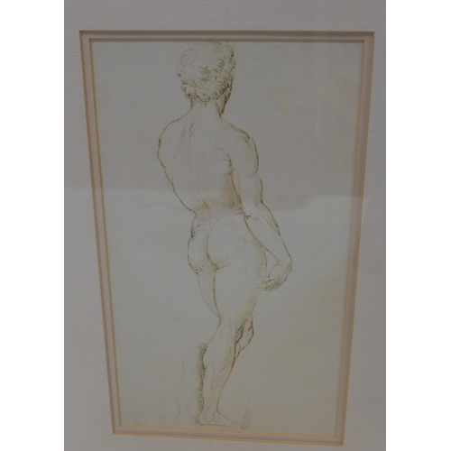 67 - Two Michelangelo prints of David and Sibyl, 29 x 19cm...
