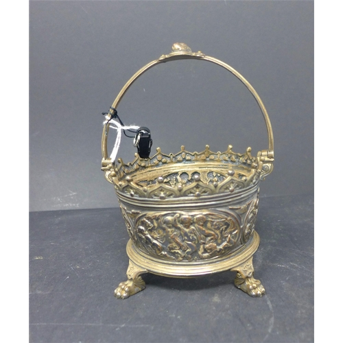 226 - An Elkington silver plated pot, together with a Chinese pipe and a Chinese pot...