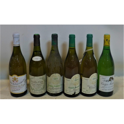 244 - A mixed collection of 6 bottles of wine, to include Domaine Du Pere Caboche Chateauneuf Du Pape Blan...