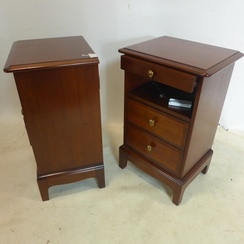 530 - A pair of bedside chests by Stag furniture, H.66 W.40 D.32cm...