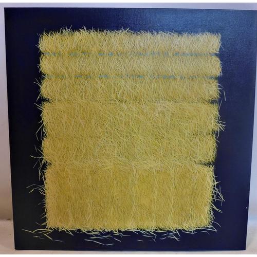 25 - Yvonne Mills-Stanley (Contemporary artist), 'Summer Hay IV', oil on linen, 76 x 76cm...