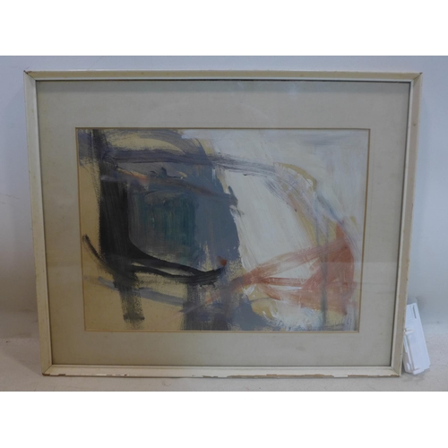 24 - Trevor Bell (1930-2017), abstract gouache on board, bearing signature 'Bell' and dated '61 lower rig...