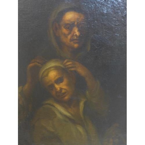 159 - 17th / 18th century Italian school, 'The Healing', oil on canvas, in giltwood frame, 82 x 60cm...