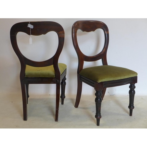 234 - A set of 4 Victorian mahogany dining chairs...