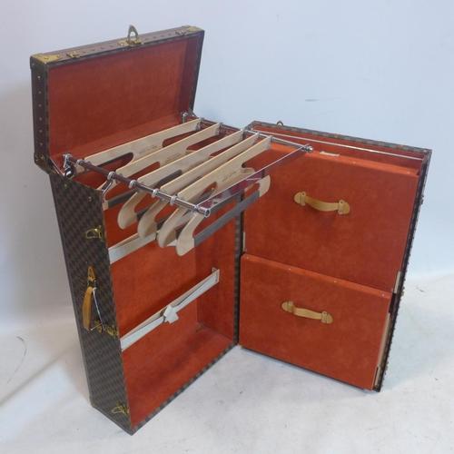 266 - A Louis Vuitton travelling wardrobe, H.92 W.55 D.30cm...