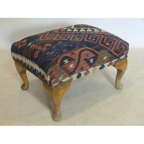 288 - A Kelim upholstered foot stool...