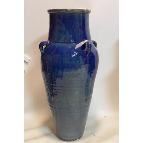 321 - A Persian blue glazed Sharab wine vessel, H.76cm...