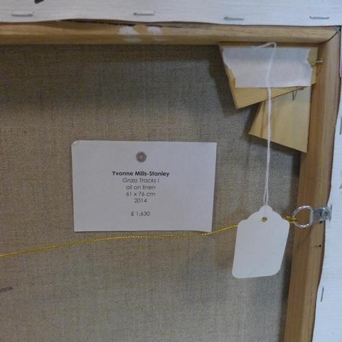 529 - Yvonne Mills-Stanley, 'Grass Tracks I', oil on linen, 61 x 76cm...