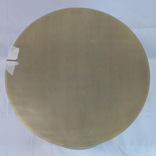 527 - A contemporary gilt cast aluminum lamp table/stool, H.42 D.38cm...